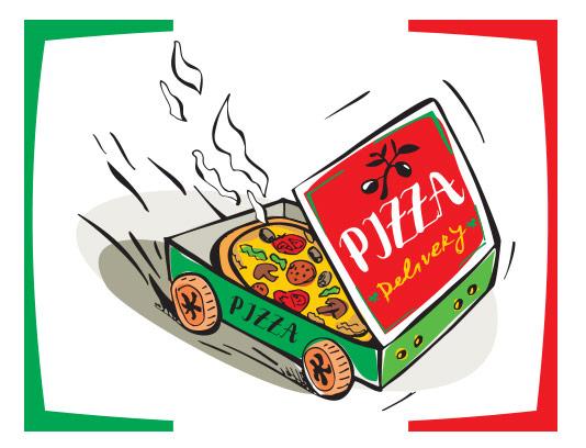 وکتور تحویل فوری پیتزا
