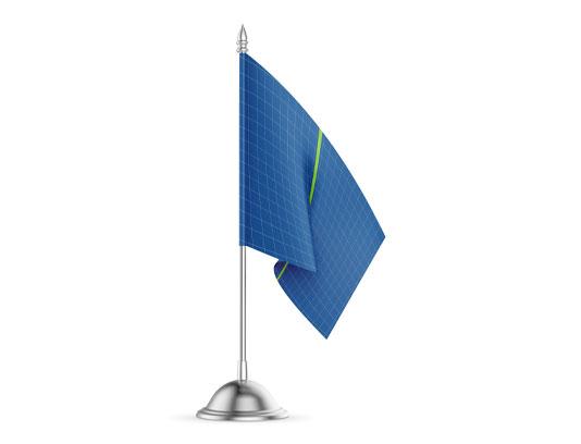 موکاپ پرچم رو میزی