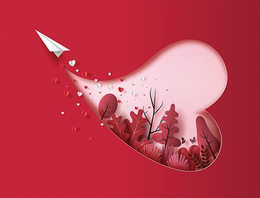 وکتور ولنتاین فانتزی قلب,وکتور عاشقانه