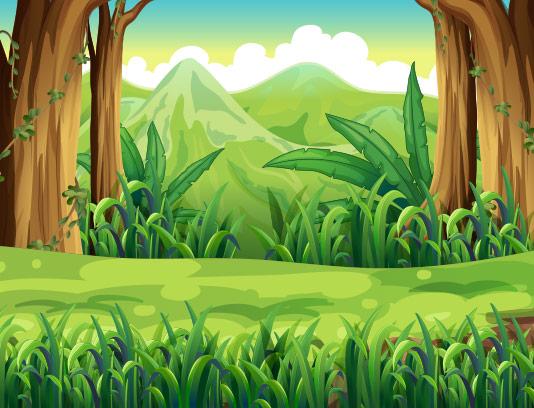وکتور طبیعت سبز با کیفیت