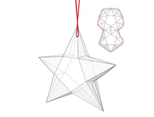 وکتور جعبه بسته بندی ستاره ای
