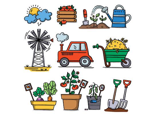 وکتور کشاورزی و باغبانی با کیفیت