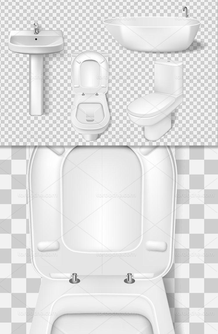 وکتور دستشویی و وان حمام