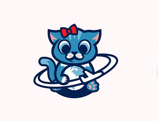 وکتور کاراکتر گربه بامزه