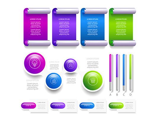 وکتور اینفوگرافیک رنگی و خلاقانه