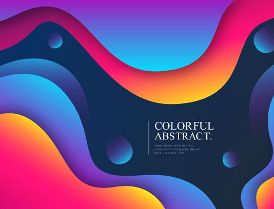 بک گراند انتزاعی موجی چند رنگی