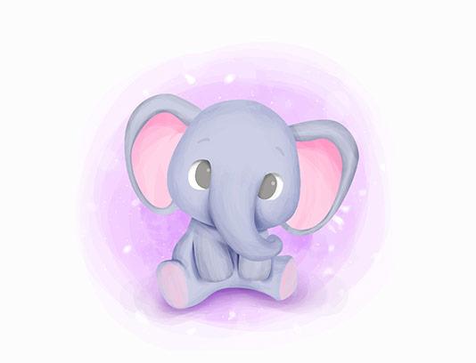 طرح کاراکتر فیل بامزه