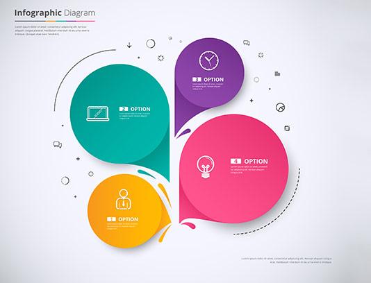 طرح نمودار اینفوگرافیک کسب و کار