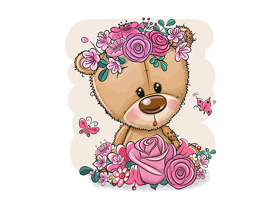 وکتور خرس مهربان کارتونی