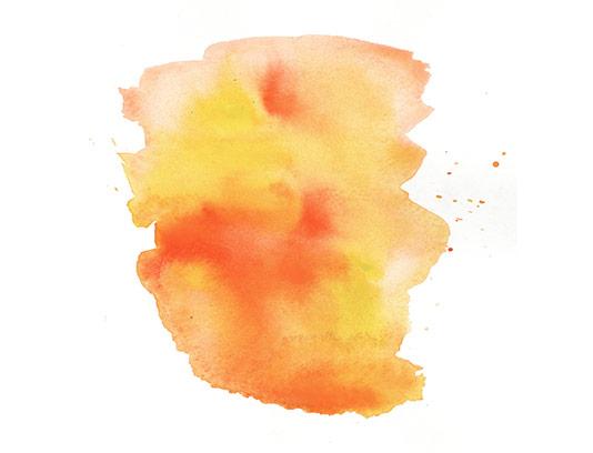 عکس لکه آبرنگ نارنجی رنگ
