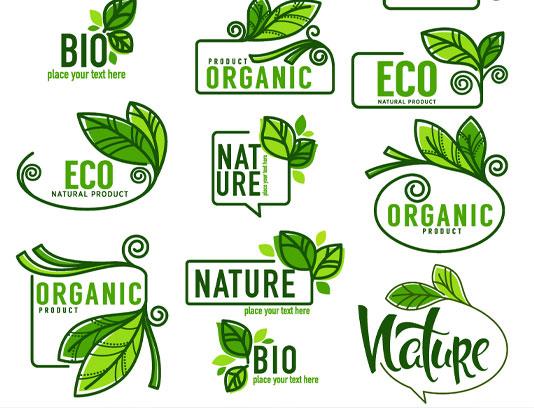 وکتور لیبل محصولات ارگانیک