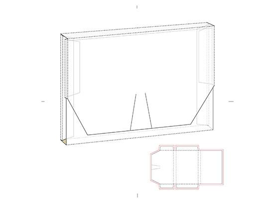 وکتور طرح گسترده جعبه کاغذی