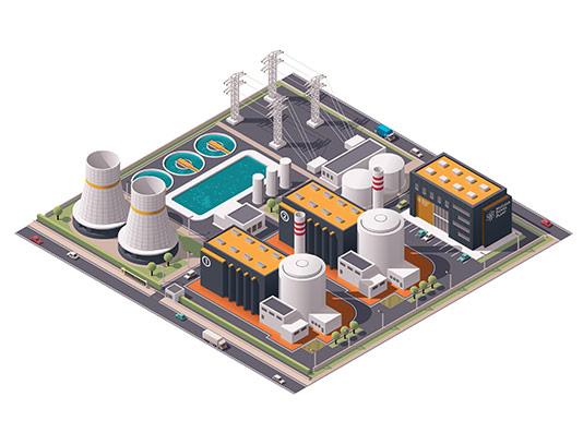 وکتور نیروگاه برق با کیفیت