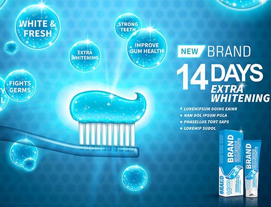 طرح تبلیغاتی خمیر دندان