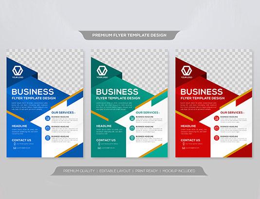 طرح بروشور و تراکت کسب و کار
