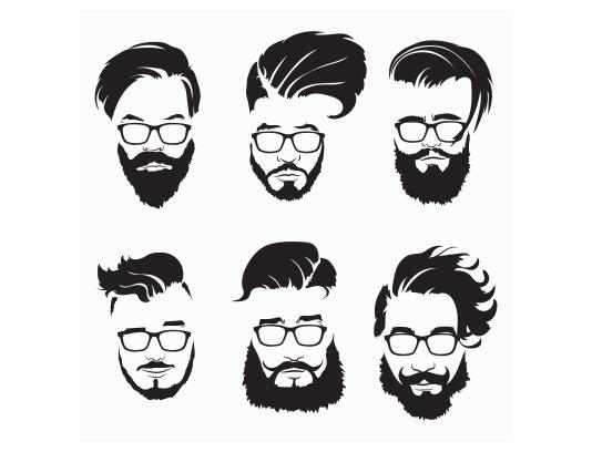 وکتور لوگو آرایشگاه مردانه مشکی