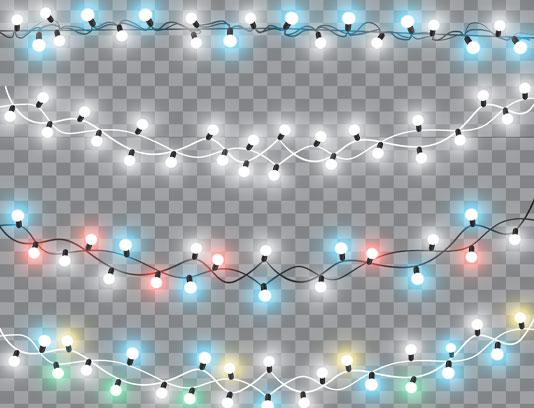 وکتور لامپ های رنگی