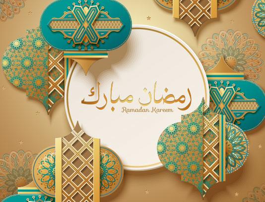 وکتور تبریک ماه مبارک رمضان