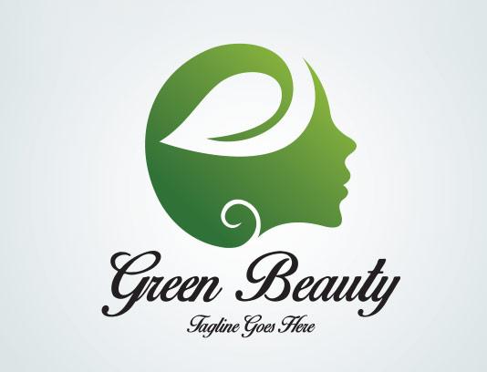 وکتور لوگو سالن زیبایی سبز