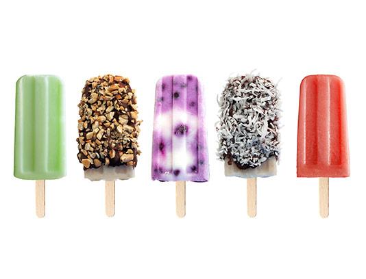 عکس بستنی چوبی در طعم های مختلف