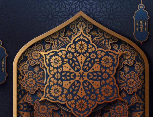 وکتور بکگراند اسلامی ماه مبارک رمضان