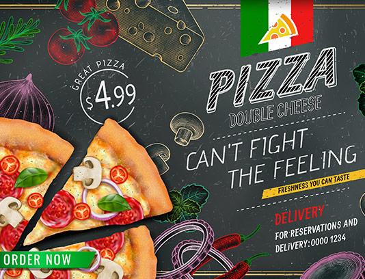 طرح پس زمینه پیتزا ایتالیایی