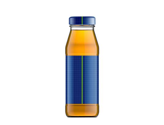 موکاپ بطری شیشه ای آبمیوه با کیفیت