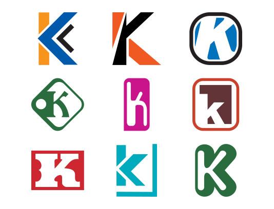 وکتور لوگو حرف لاتین K