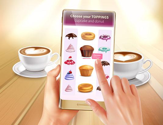 وکتور خرید آنلاین کاپ کیک
