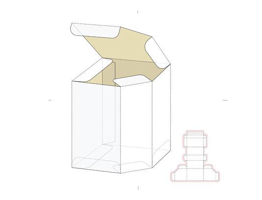 وکتور جعبه پنج ضعلی با خط برش