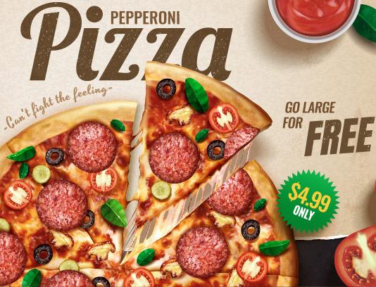 وکتور پس زمینه پیتزا پپرونی