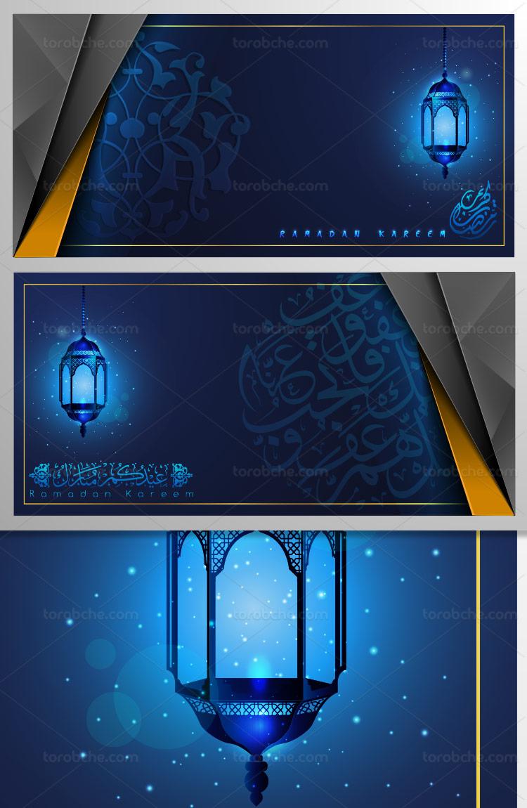 وکتور طرح بکگراند ماه رمضان