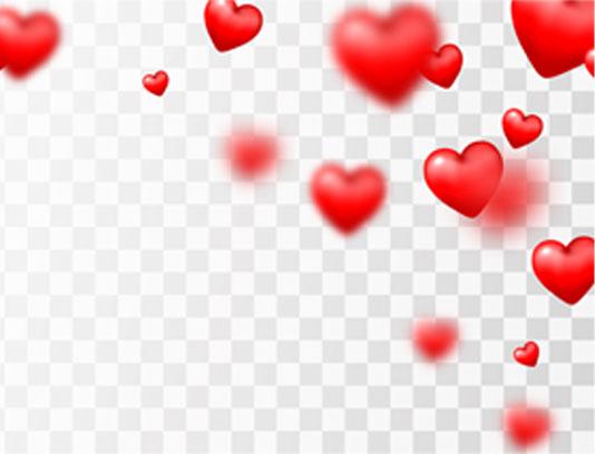 وکتور پس زمینه قلب های قرمز