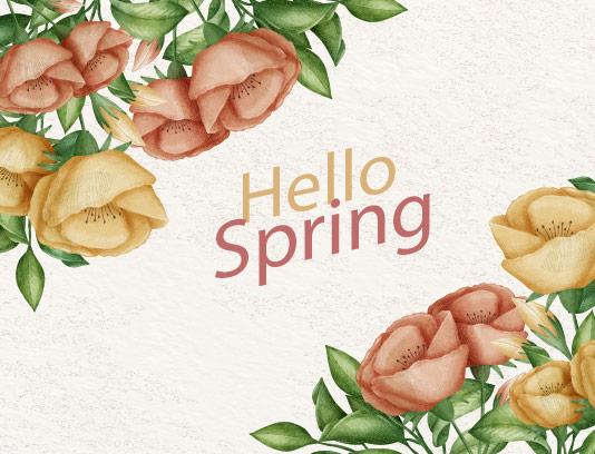 طرح پس زمینه گل های بهاری