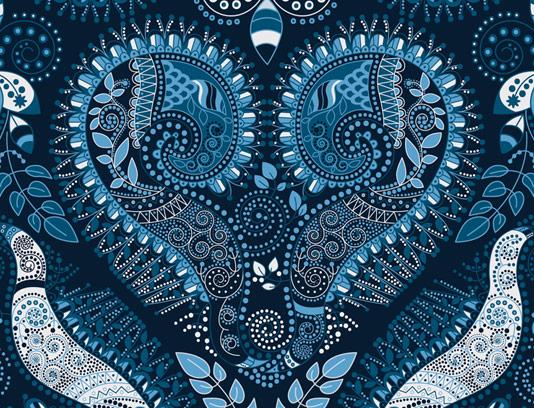 وکتور پس زمینه سنتی آبی رنگ