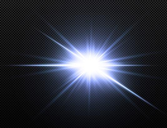 وکتور افکت نور درخشان سفید