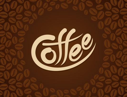 وکتور زمینه دانه های قهوه