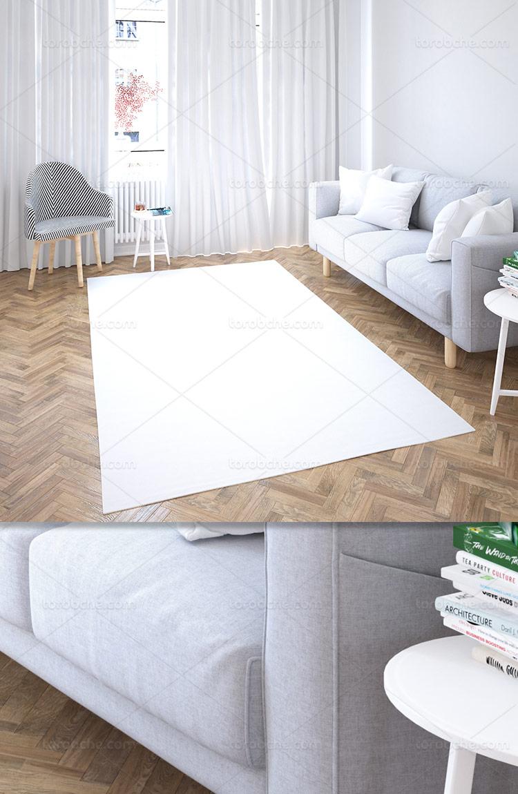 موکاپ فرش و قالی با کیفیت