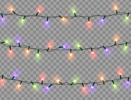وکتور ریسه های لامپ رنگی