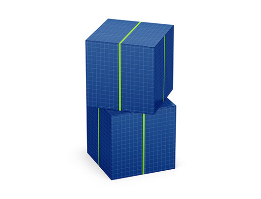 موکاپ جعبه مکعبی کوچک