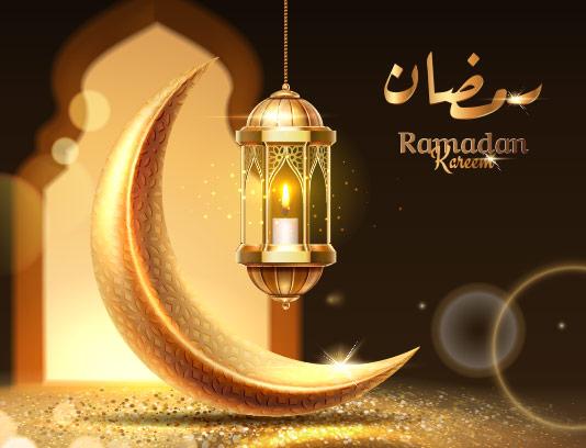 وکتور پس زمینه ماه رمضان تیره