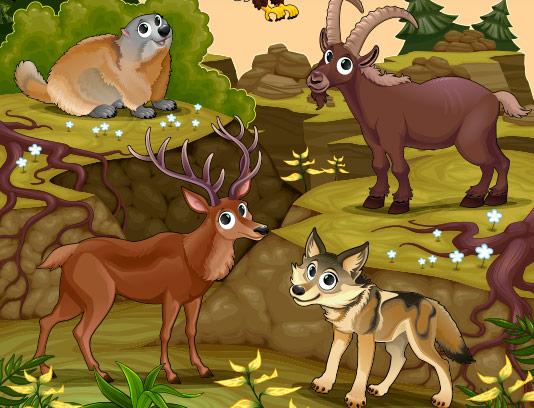 وکتور حیوانات جنگل با کیفیت
