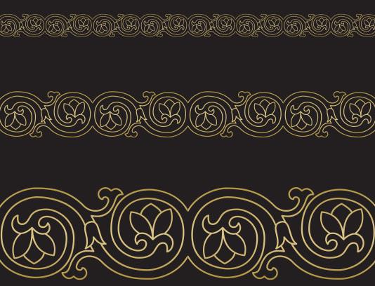وکتور کادر و حاشیه طلایی