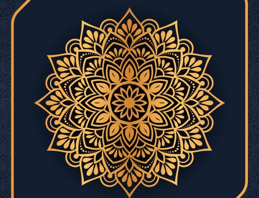طرح پس زمینه ماندالا طلایی رنگ