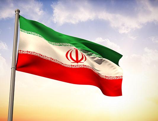 عکس پرچم ایران در حال اهتزاز