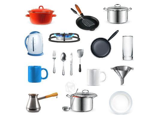وکتور ظروف آشپزخانه با کیفیت