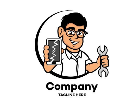 وکتور لوگو تعمیرات موبایل