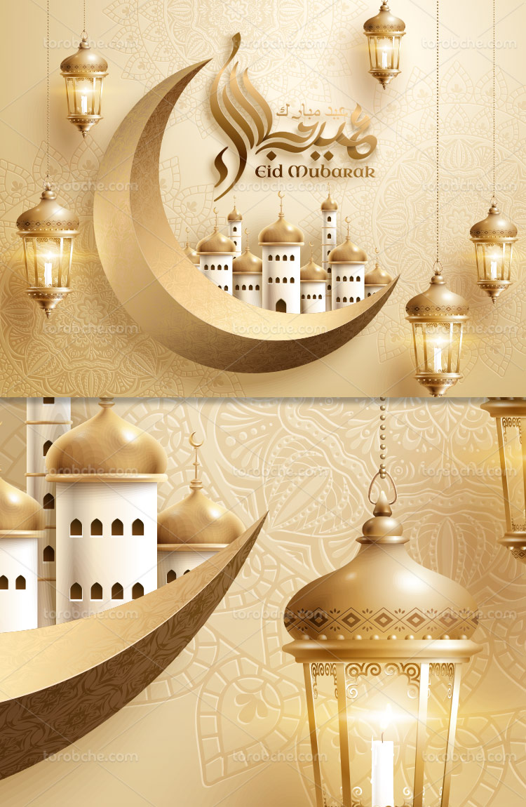 پس زمینه ماه رمضان و ماه طلایی