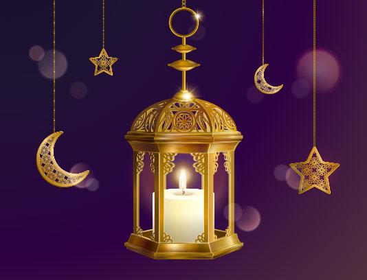 طرح پس زمینه و بکگراند ماه رمضان
