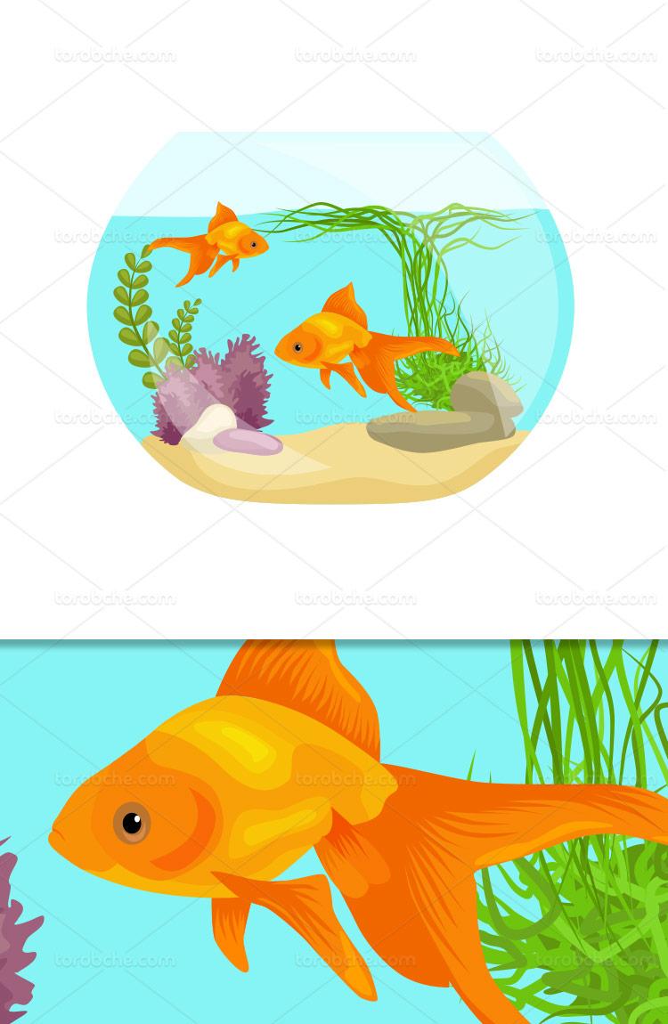 وکتور تنگ ماهی قرمز عید